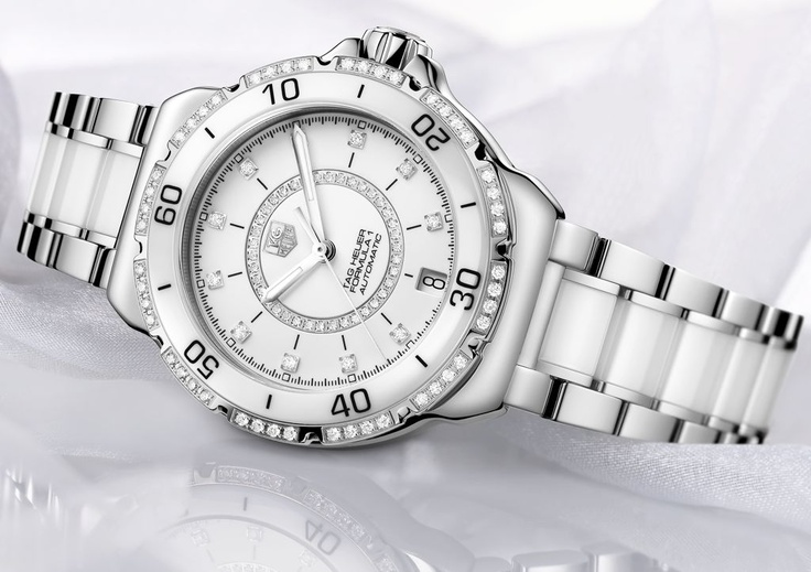 TAG Heuer Formula 1 Lady Automatic, with Diamonds- part of the TAG Heuer women's range of watches as jewellery