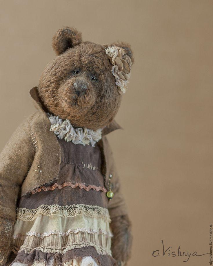 Купить Тоффи (Toffy) мишка тедди - коричневый, мишка ручной работы, мишка тедди