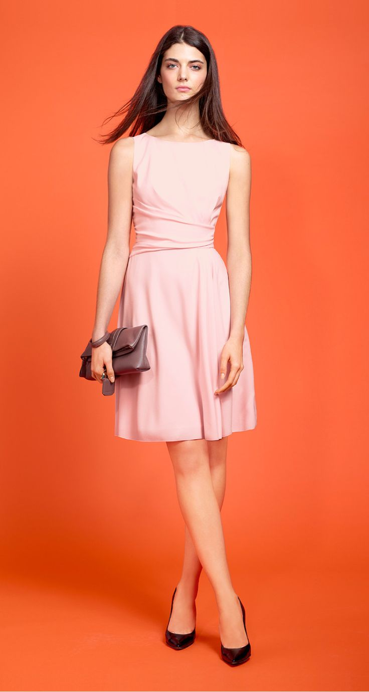 Satin-backed crepe dress - Dresses - Fall 2015 - New Collection