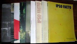 Ipso Facto rivista d'arte contemporanea dir. Elio Grazioli 9 num. 1998/01 | eBay