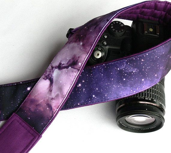 Galaxy Camera Strap. DSLR Camera Strap. Space by LiVeCameraStraps