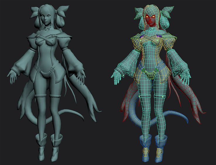 3d Character Design Course : Female face polygonal model low poly google search d