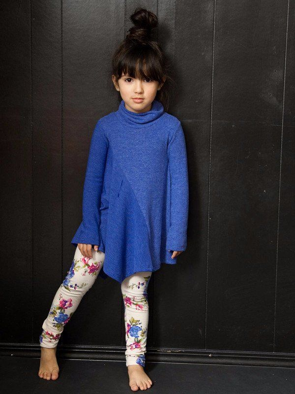 Soft Faux Cashmere tunic with asymmetrical hem. The coziest tunic for your little fahionista. Preshrunk. Made in the beautiful USA.