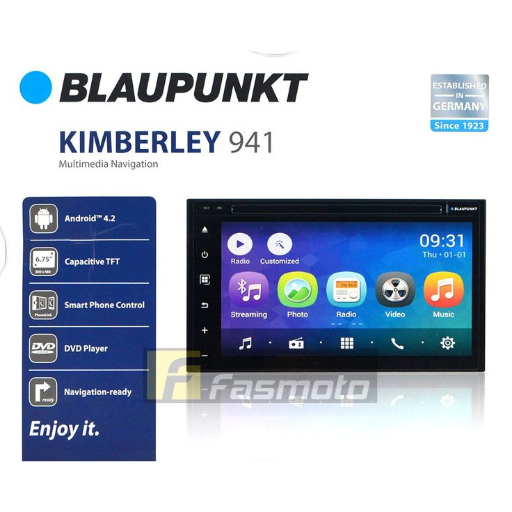 "Blaupunkt Kimberley 941 6.75"" Double DIN Android 4.2 OS WiFi PhoneLink Head Unit"