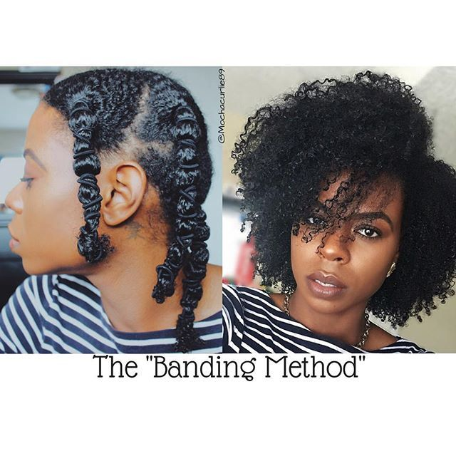 The banding method is perfect for elongating curls & keeping them tangle free! If you're someone needing a new technique for achieving a wash n go, try banding!