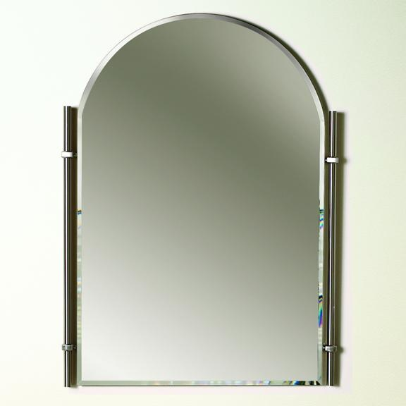 Traditional Brushed Nickel Chateau   Bathroom Mirror