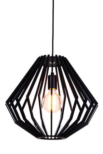 SVEN BLACK WOOD MEDIUM PENDANT - Modern Pendants - Pendant Lights - Lighting Direct Limited