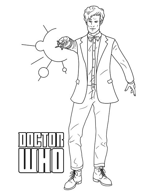 doctor who colouring pages kentbaby picture