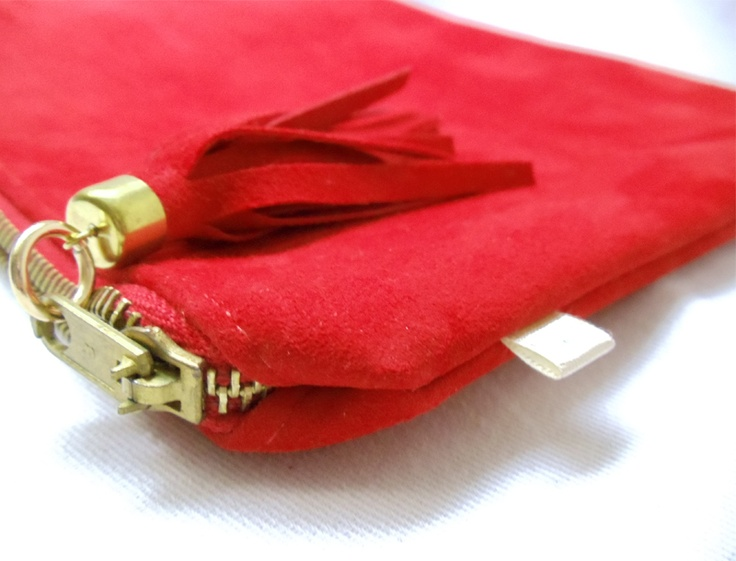 Red Suede Clutch  http://www.franmaturana.com/p/shop.html#