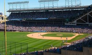 Groupon - Chicago Cubs Game Rooftop Ticket with Unlimited Food and Drinks with Unobstructed Views (July 4–July 23)   in Wrigley View Rooftop. Groupon deal price: $110