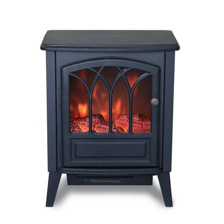 New Clevr 750w / 1400w Freestanding Electric Fireplace Space Heater stove flame