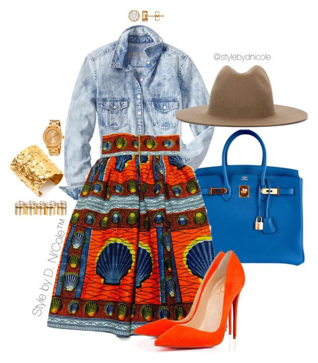 Untitled #3208 by stylebydnicole on Polyvore featuring polyvore fashion style Gap Hermès Ben-Amun Movado Études clothing