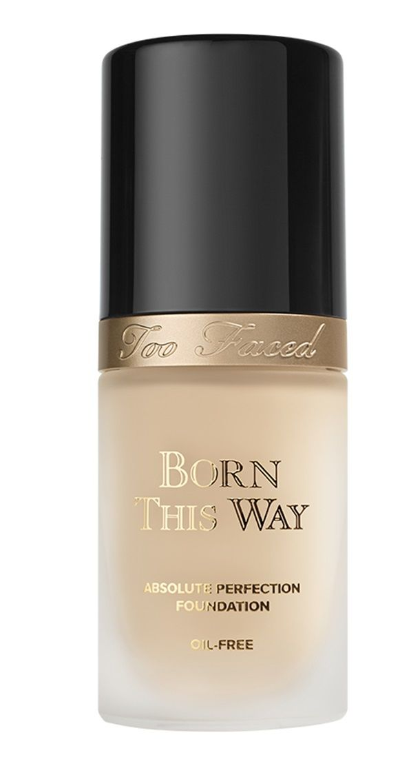 "Too Faced Fall 2015 Arrives with New Born This Way Foundation. Try shade ""neutral beige"". Medium to Full coverage"