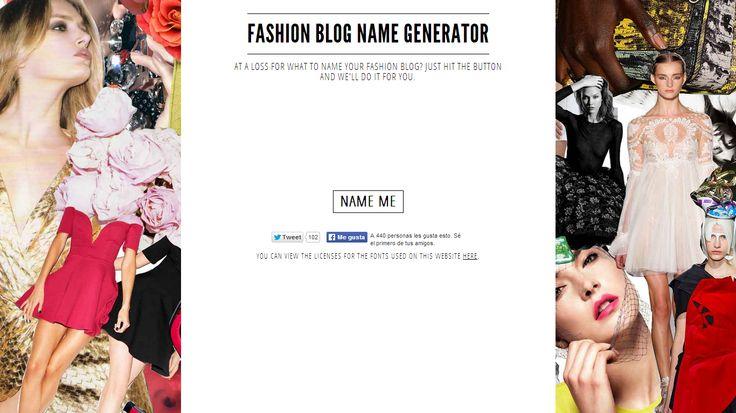 Como llamar mi blog: generadores de nombres - Personalización de Blogs | Tutoriales blogger, trucos blog...