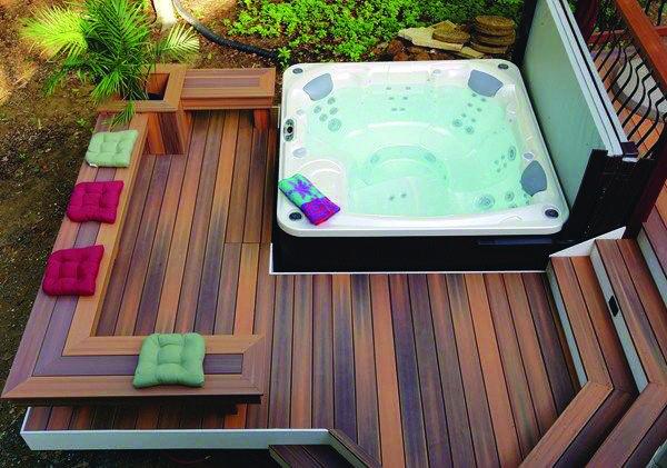 10 Beautiful Easy Diy Backyard Decks Homes Tre Hot Tub Deck