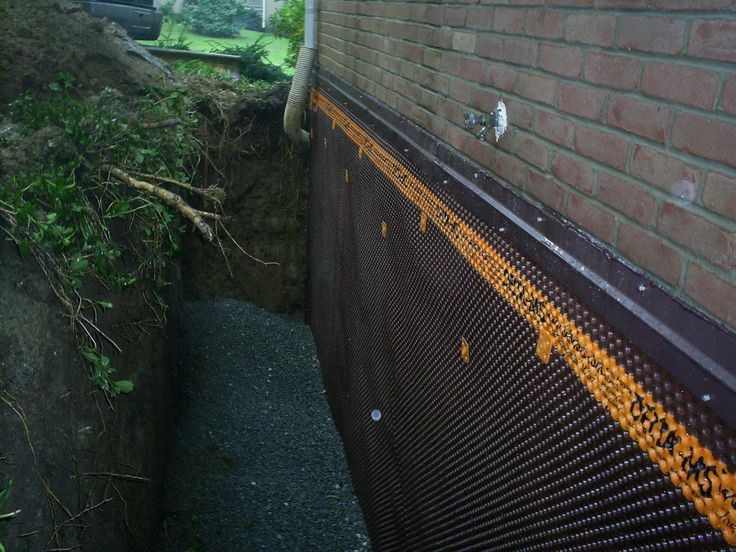 Exterior Basement Wall Waterproofing Basement Design Ideas Pinterest Basement Walls