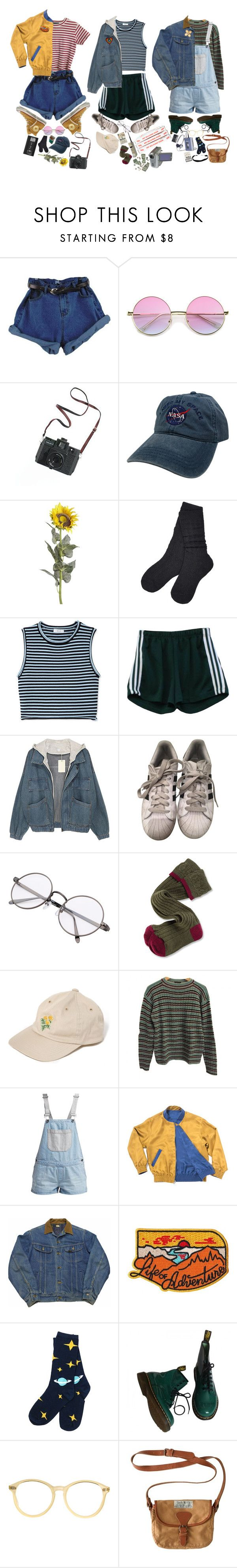 """""""80's s q u a d"""" by cosmic-calum ❤ liked on Polyvore featuring Converse, ZeroUV, Madewell, Pier 1 Imports, UGG, A.L.C., adidas, Barbour, American Apparel and Prada"""