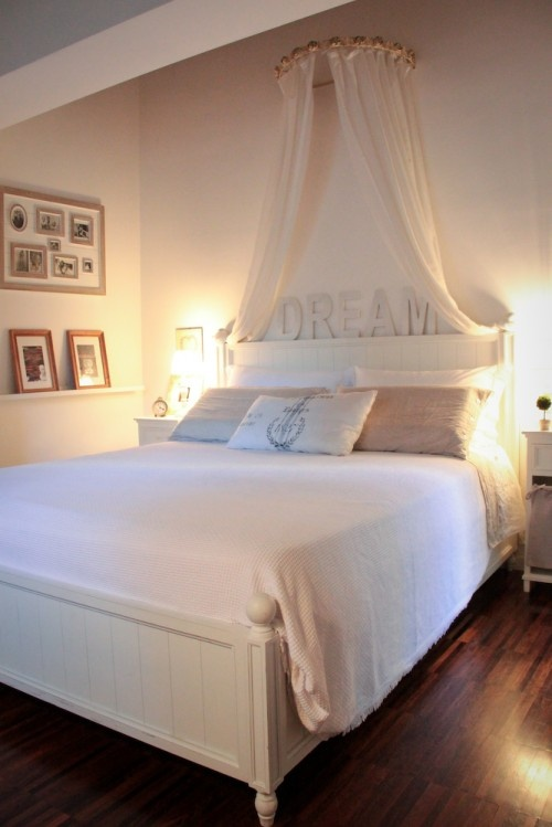 Canopy crafty things to make pinterest for Dreams headboards
