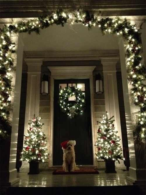 Christmas front door...in another house!