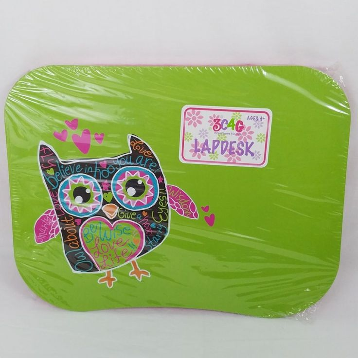 Laptop Lap Desk Table Tray Girl Scouts Portable Computer Stand New Pink Green #LapDesk #GirlScouts