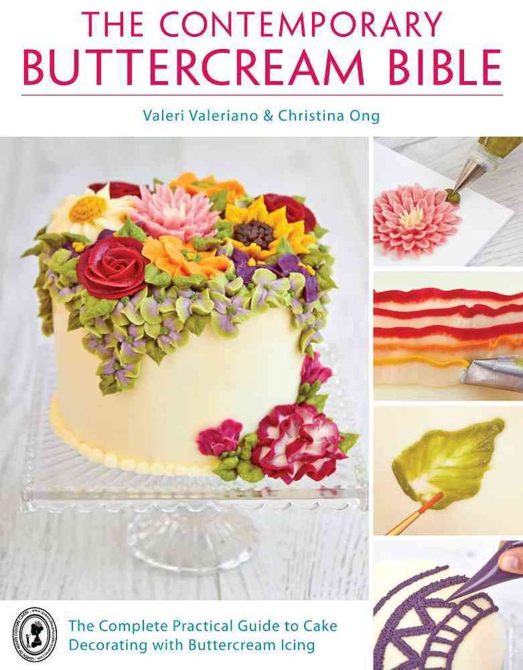 Buttercream icing is the most delicious cake decorating medium, is very accessible and needs very little specialist equipment. This essential guide demonstrates more than 50 innovative techniques via More