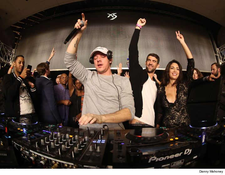 Michael Phelps & Wife -- Parents Night Out ... Raging In Vegas with Famous DJ (PHOTOS) - http://blog.clairepeetz.com/michael-phelps-wife-parents-night-out-raging-in-vegas-with-famous-dj-photos/