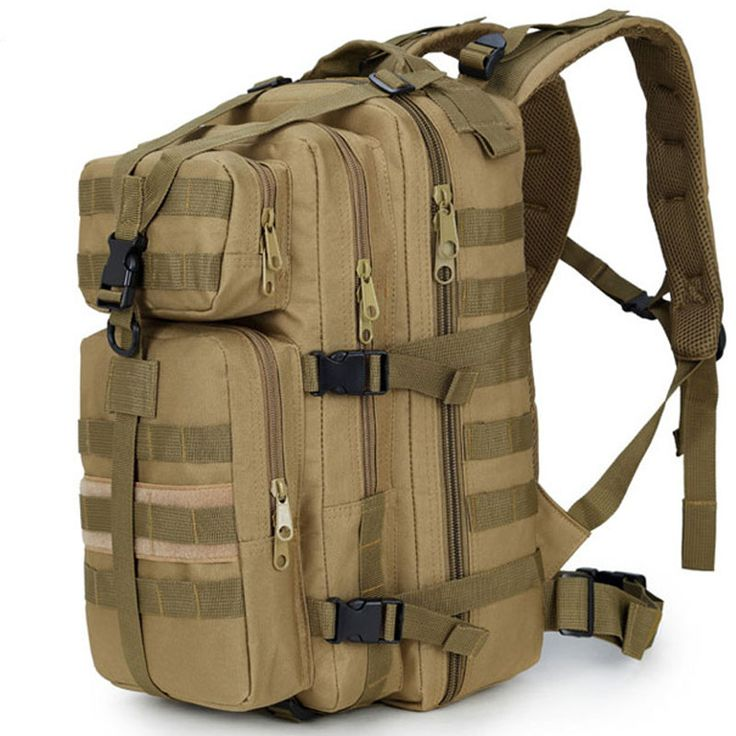 35L Military Tactical Assault Pack Backpack Army Molle Waterproof Bug Out Bag Small Rucksack for Outdoor Hiking Camping Hunting