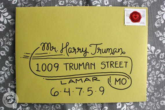 "Wedding Calligraphy Envelope Addressing ""Truman Style"" Handwritten."