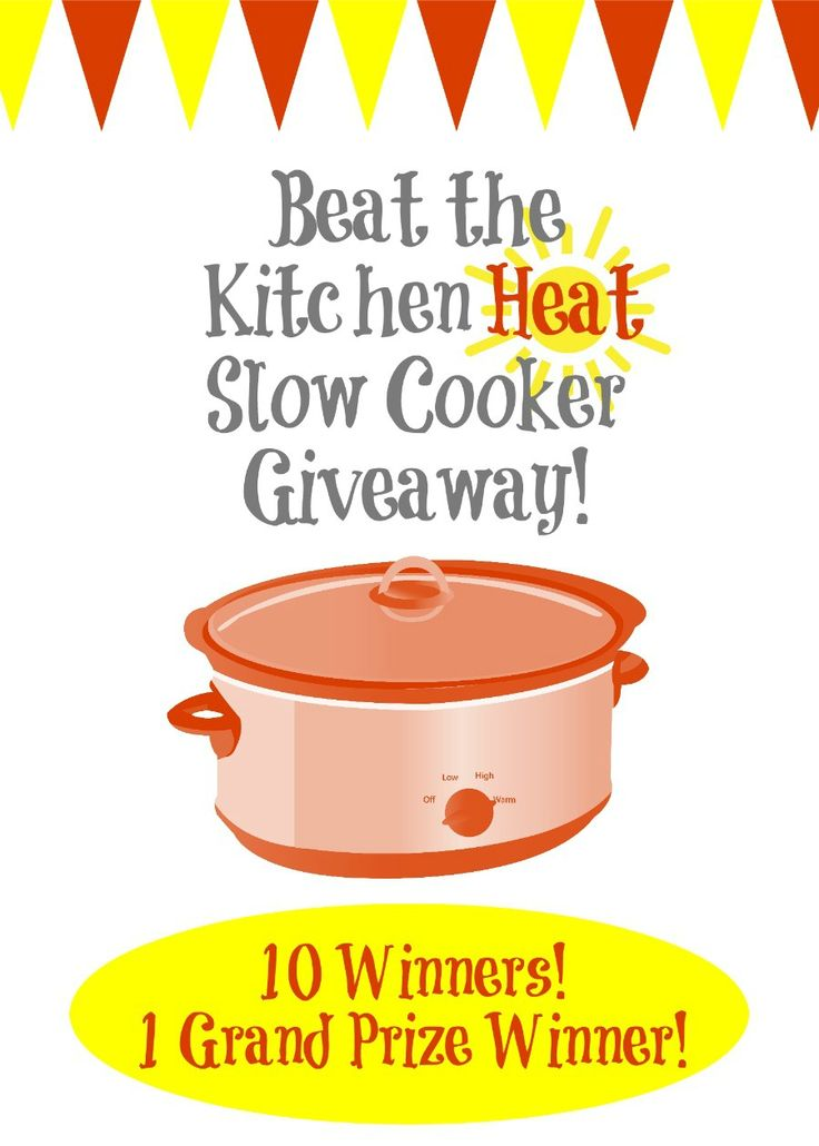 Get entered to win one of TEN Hamilton Beach slow cooker prize packages with a Grand Prize winner also winning $150 on Amazon! Ends 7/14/15