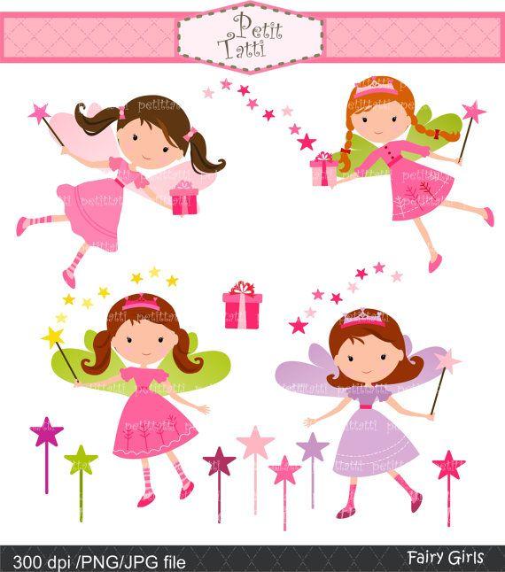 girl clip art cute fairy clip art  Digital clip art  by petittatti, $4.80