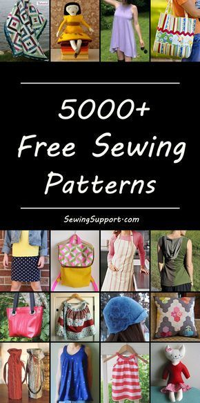 Thousands of free sewing patterns – categorized for easy browsing. No registrati…