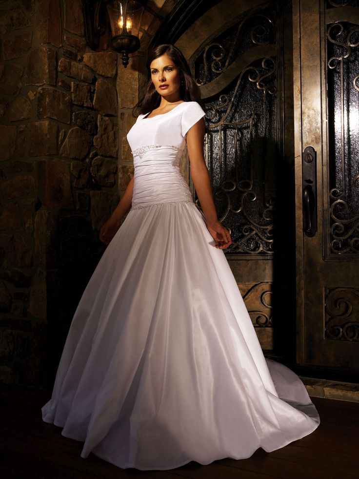 40 best modest wedding dresses images on pinterest for Elegant modest wedding dresses
