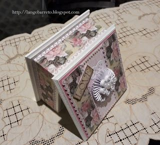Lange Barreto - Scrap: Caixa MDF decorada.