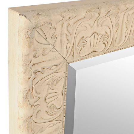 Ornate Distressed Cream Mirror, 29x35 in. | Kirklands