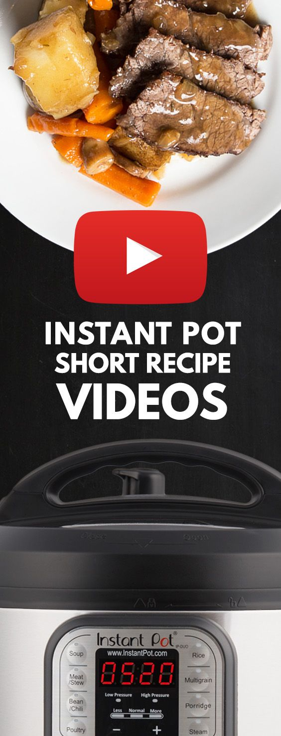 Growing Instant Pot Videos & Pressure Cooker Videos: short Step-by-Step Recipe Videos for Instant Pot Electric Pressure Cookers. via @pressurecookrec