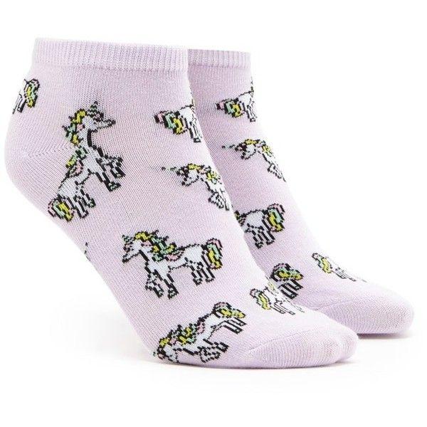 Forever21 Unicorn Print Ankle Socks (88 DOP) ❤ liked on Polyvore featuring intimates, hosiery, socks, unicorn socks, forever 21 socks, tennis socks, short socks and ankle socks