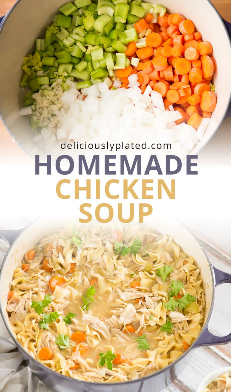 The BEST homemade chicken soup with #glutenfree option