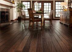wide plank hand scraped hardwood flooring shaw HGTV home - Google Search