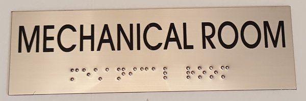 MECHANICAL ROOM SIGN – STAINLESS STEEL (3X9.75)