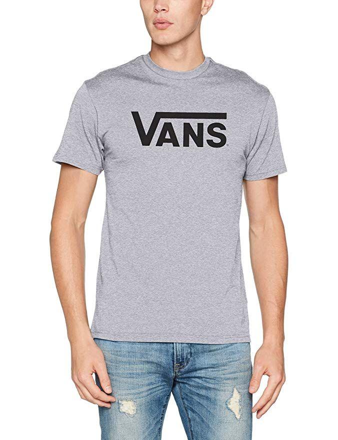 Vans Classic Herren T Shirt Grau mit schwarzer Schrift