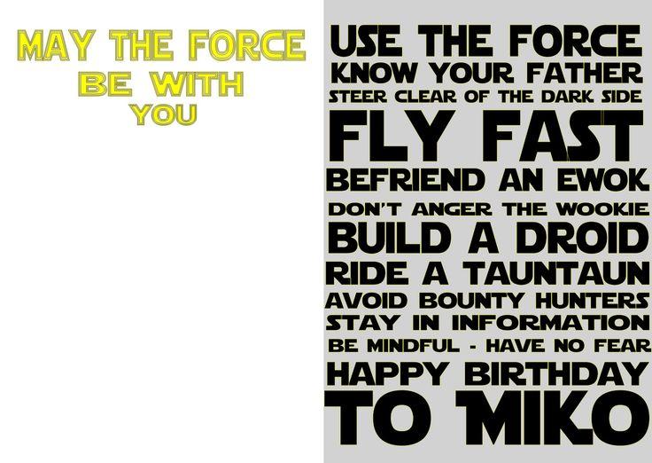 My friend birthday card. Star Wars wishes :)