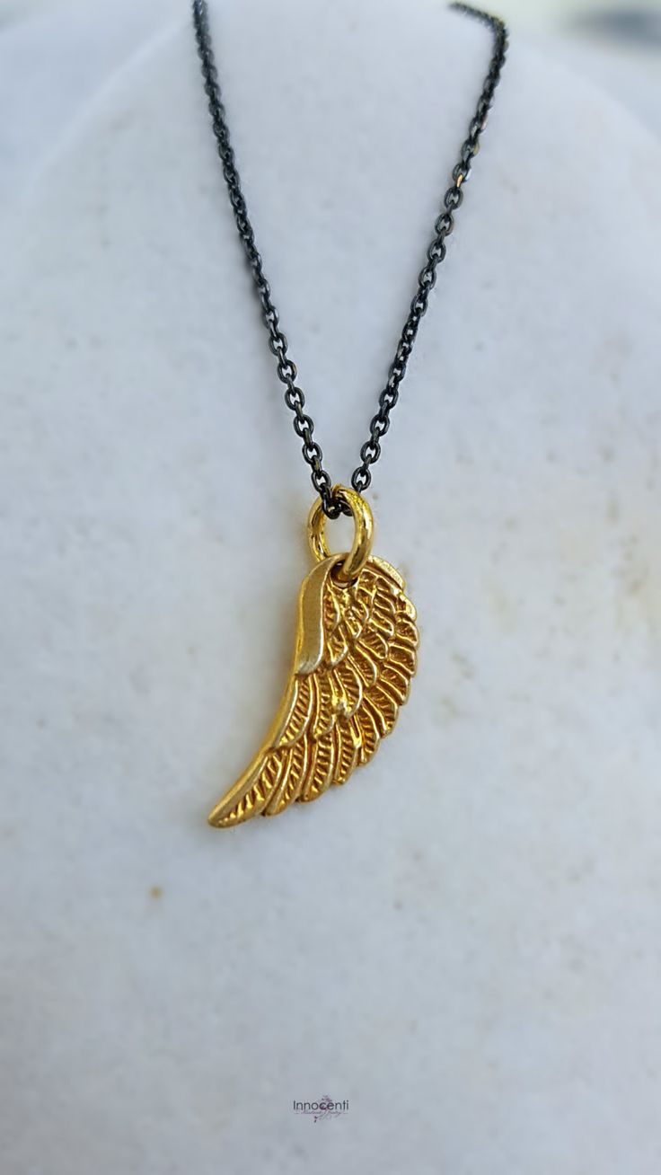Angel Wing Necklace Angel Wing Jewellery Gold Charm Necklace Charm Jewellery…