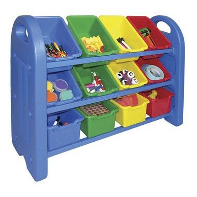 3 Tier Storage Organizer With Bins | Honor Roll Childcare Supply - Daycare Furniture and Preschool Supplies $82