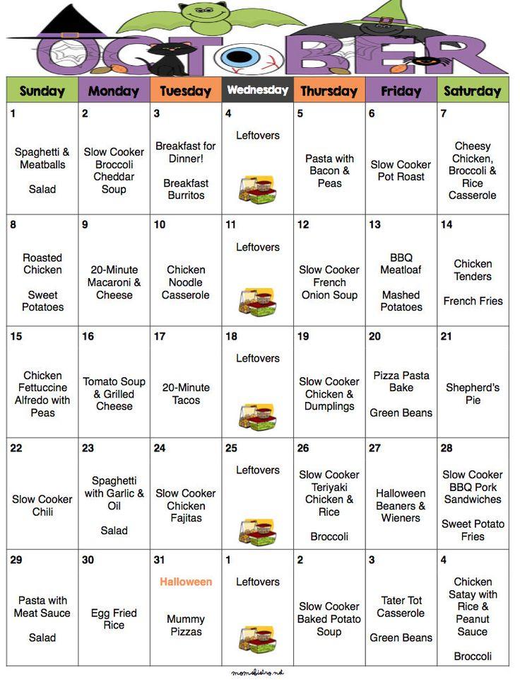 Best 25+ Monthly menu ideas on Pinterest Monthly meal planner - dinner menu
