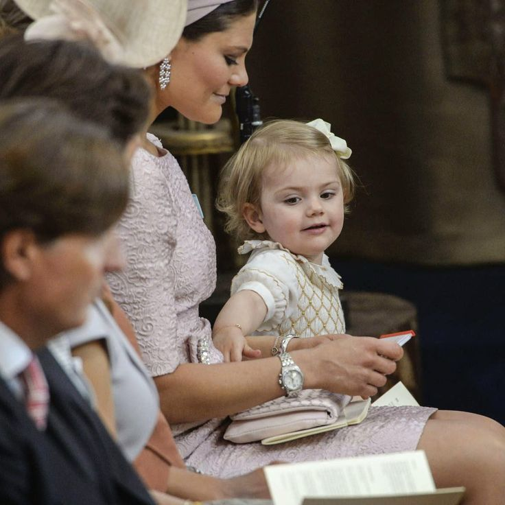 The Christening of Princess Leonore at Drottningholm Palace Chapel in Stockholm 8/6/2014
