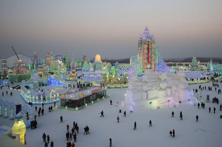 Harbin, China, Festival de Hielo/Ice festival