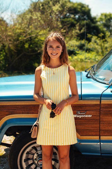 Yellow striped dress! 9