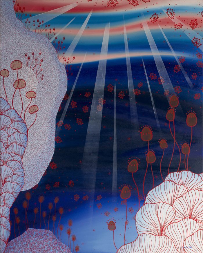 ©Elisa Viotto - Underwater - oil on canvas