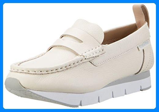 Calvin Klein Jeans Damen Sonora Pebble Calf Slipper, Weiß (Ofw), 36 EU - Slipper und mokassins für frauen (*Partner-Link)