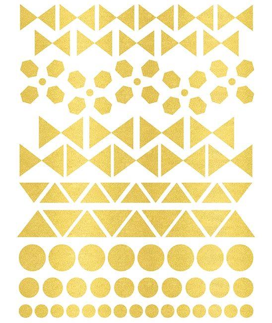 Stickers géométrique dorés
